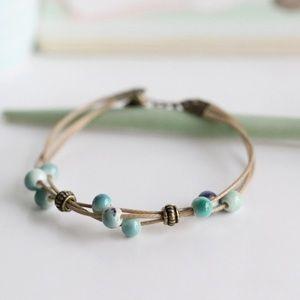 🆕 Turquoise Ceramic Stone Fashion Bracelet